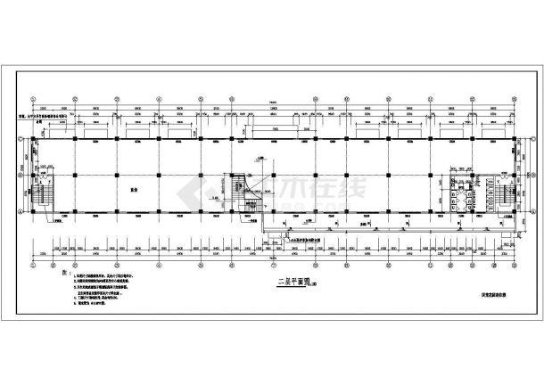 成都市青白江区某小区4650平米5层框架结构住宅楼建筑设计CAD图纸-图一