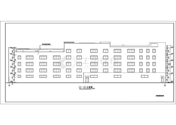 成都市青白江区某小区4650平米5层框架结构住宅楼建筑设计CAD图纸-图二