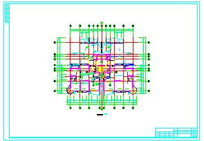 高层单身公寓楼cad建筑设计施工图-图一