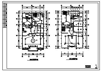 某四层娱乐场所电气施工cad图(含火灾自动报警及消防广播系统设计)-图一