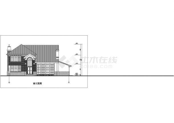 某地区现代多层小别墅方案设计施工CAD图纸-图一