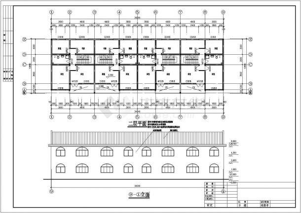 某地区现代小型别墅建筑设计施工CAD图纸-图一