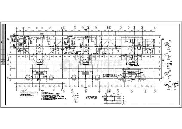 某高档小区多层框架结构住宅楼结构设计cad全套施工图-图二