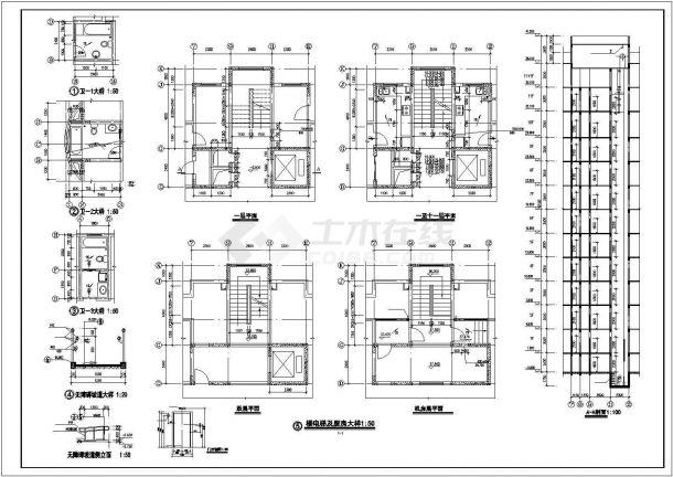 丽江市某小区7100平米11层框架结构住宅楼建筑设计CAD图纸(含架空层)-图一