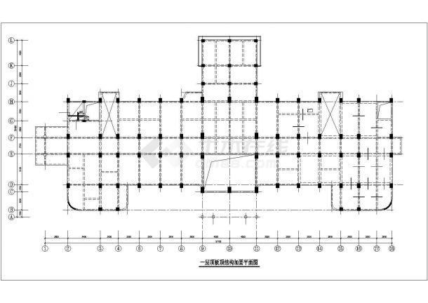 某医院门诊楼综合楼加固改造结构施工CAD图-图一