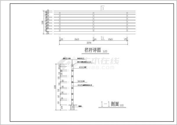 湖北省锦州市市区某某高层宾馆酒店cad设计施工图纸-图一
