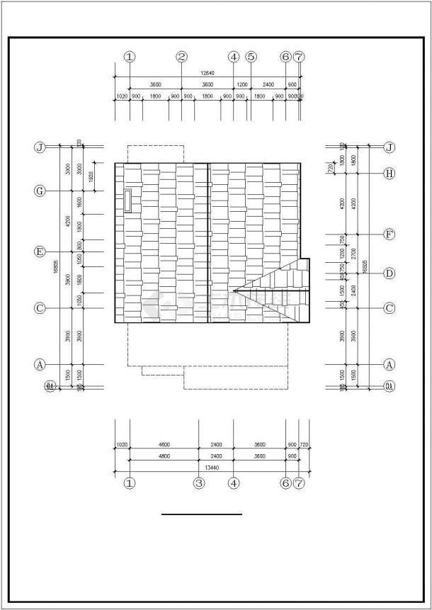 兰州市某现代村镇400平米三层砖混结构乡村民居楼建筑设计CAD图纸-图一