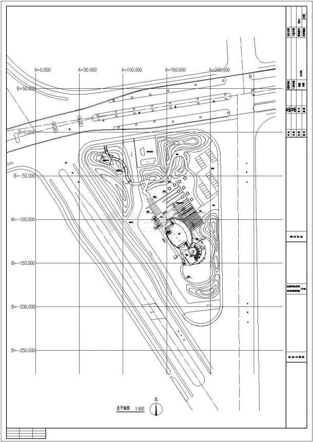某江苏苏州绿地公园景观设计CAD施工图总平面图-图一