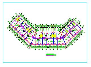 仿古街CAD建筑设计施工图-图二