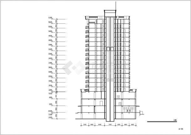 徐州市某街道18+1层框架结构住宅楼全套建筑设计CAD图纸(含总图)-图一