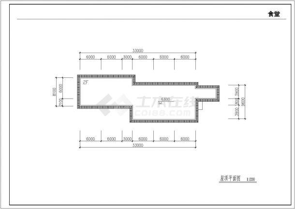 某乡镇中学校园扩建四层教学楼建筑工程设计CAD图(含平立剖、总平面图)-图一