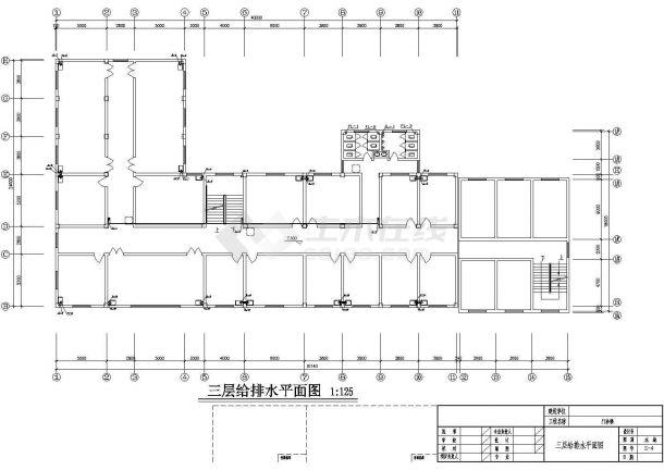 4层L型医院门诊楼给排水施工图纸【各层给排水平面 目录 材料表 图例 施工说明 卫生间给排水大样 给排水消防水箱系统】-图二