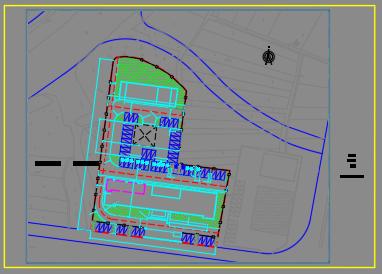 金亚子派出所景观改造设计图--道路围墙-图一