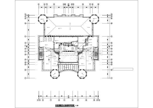 淄博市张店区某7000平米4层框架结构商业楼电气系统设计CAD图纸-图一
