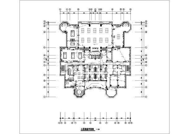 淄博市张店区某7000平米4层框架结构商业楼电气系统设计CAD图纸-图二