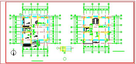 二层成套别墅cad建筑设计施工图-图一