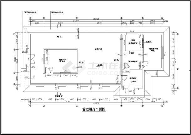 某石门子旅游景点管理用房CAD景观设计图纸-图二