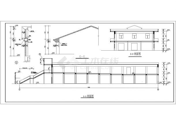 某地2层2645平米学生食堂施工设计cad图纸【平立剖 总平面布置图 目录 说明】-图一