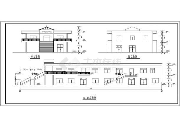某地2层2645平米学生食堂施工设计cad图纸【平立剖 总平面布置图 目录 说明】-图二