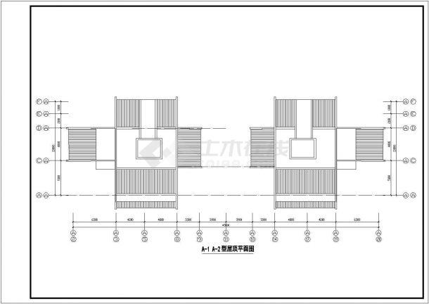 温州某住宅小区设计CAD大样设计完整建筑平面图-图一
