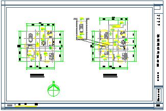 福州某欧式居住cad别墅建筑设计图纸-图二