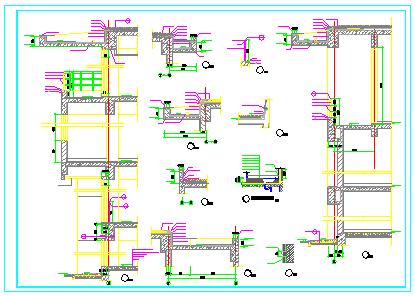 建筑节点详图及墙身剖面设计cad图纸-图一
