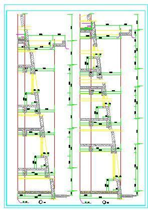 建筑节点详图及墙身剖面设计cad图纸-图二
