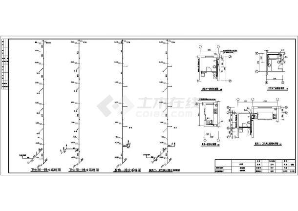 长70.5米 宽11.5米 1储藏+5层(1梯2户3单元)住宅楼水暖建筑设计施工图-图一