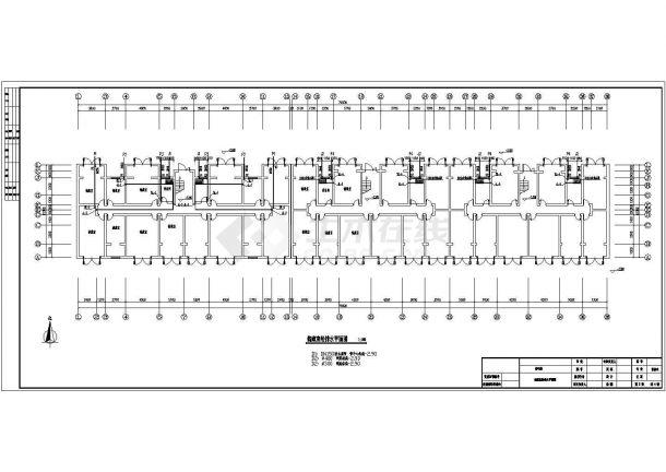 长70.5米 宽11.5米 1储藏+5层(1梯2户3单元)住宅楼水暖建筑设计施工图-图二
