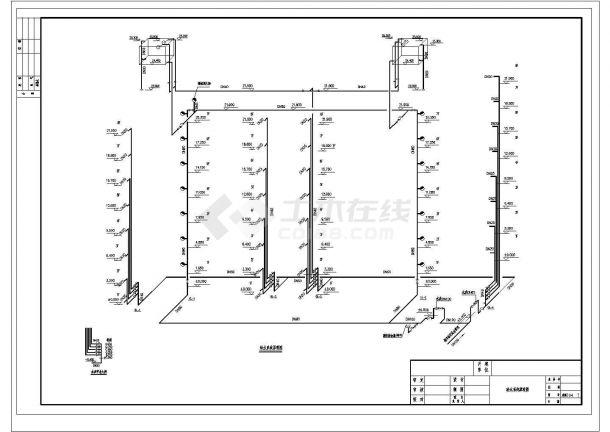长56.8米 宽11.6米 8层(1梯2户2单元)复式住宅楼建筑设计施工图-图一