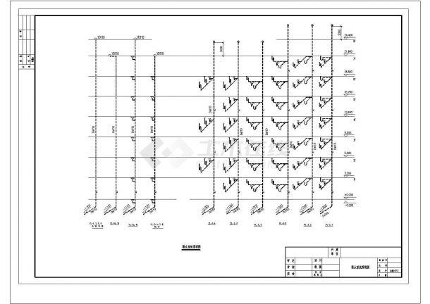 长56.8米 宽11.6米 8层(1梯2户2单元)复式住宅楼建筑设计施工图-图二