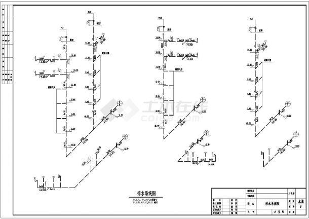 长52.5米 宽14.25米 6+1阁楼层(1梯2户3单元)住宅楼建筑设计施工图-图一