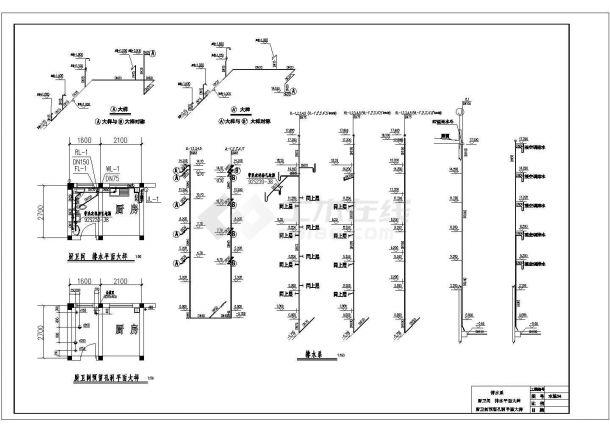 长50.22米 宽11.22米 5层(1梯2户5单元)小户型住宅楼CAD建筑设计施工图-图一