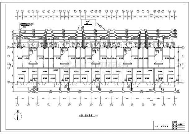 长50.22米 宽11.22米 5层(1梯2户5单元)小户型住宅楼CAD建筑设计施工图-图二