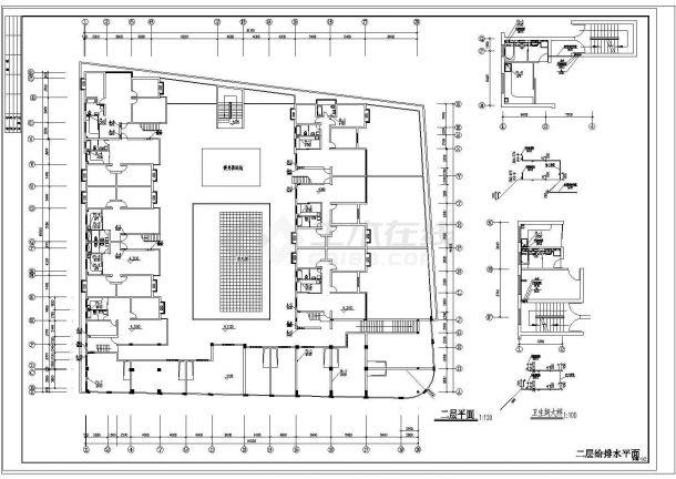 长51.2米 宽49.989米 6+1阁楼层(1梯2户5单元)11型住宅楼建筑设计施工图-图一