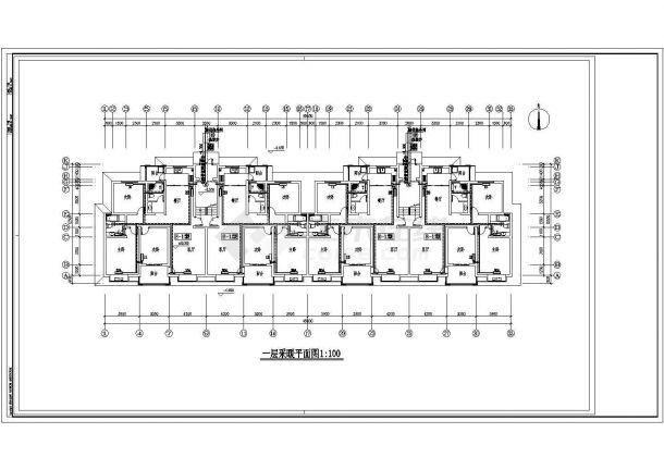 长45.6米 宽12.5米 6层(1梯2户2单元)住宅楼建筑设计施工图-图二