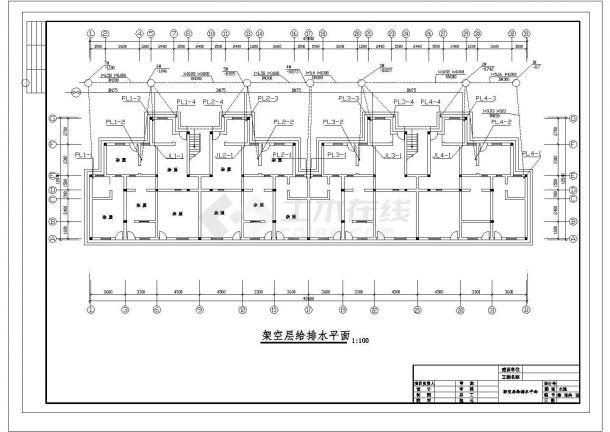 长45.84和45.2米 宽13.5和12.8米 1架空+6层建筑设计施工图-图一
