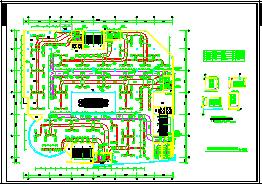 某商场全套空调cad平面设计施工图纸-图二