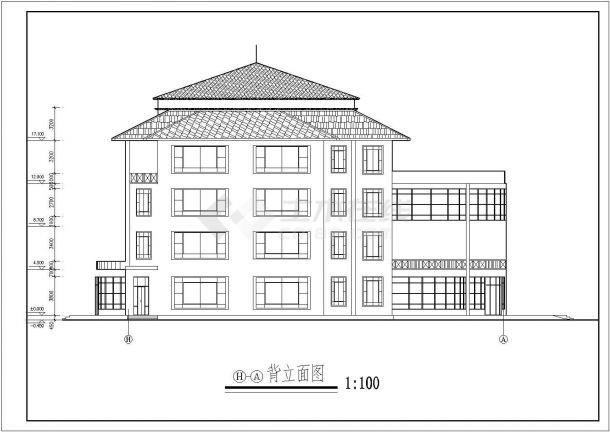 【南京】某地4层餐饮娱乐城全套建筑施工cad图【平立剖 楼梯平面】-图一