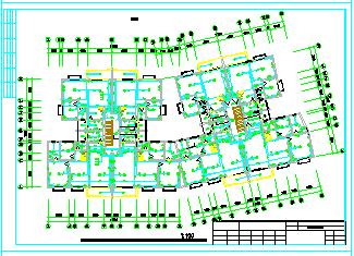 某多层住宅建筑楼强弱电CAD平面施工设计图-图一