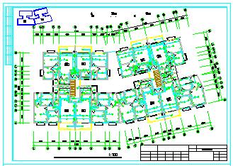 某多层住宅建筑楼强弱电CAD平面施工设计图-图二