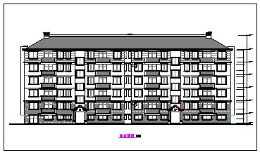 某高层住址建筑全套施工CAD设计图-图二