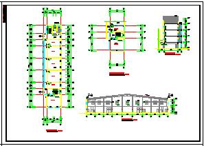 某厂区办公楼加厂房建筑cad方案设计图-图一