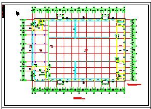 某厂区办公楼加厂房建筑cad方案设计图-图二