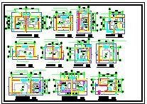 某双拼别墅cad建筑施工设计图-图一