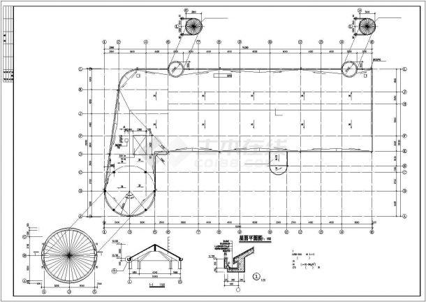 某幼儿园教学楼建筑设计方案图-图一