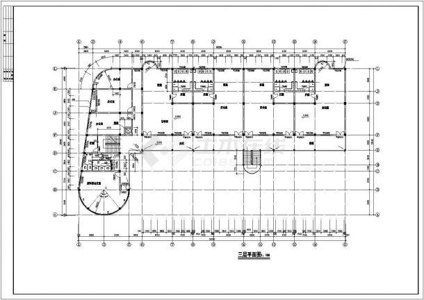 某幼儿园教学楼建筑设计方案图-图二