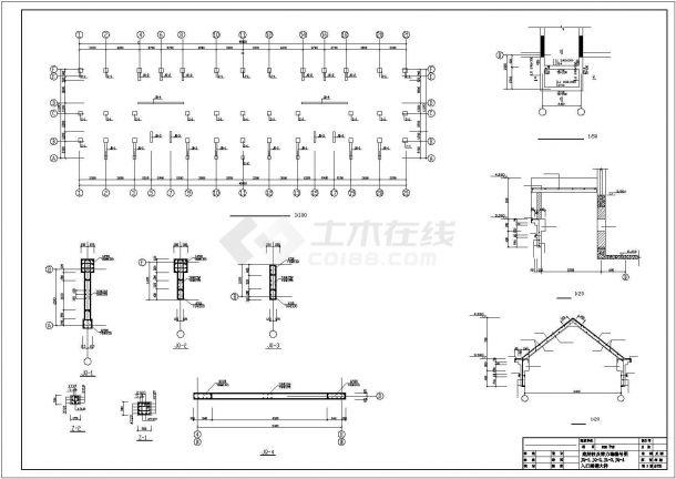 扬州某居住区2930平米7层砖混结构住宅楼建筑设计CAD图纸(含结构图)-图一