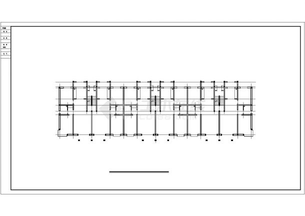 石河子市某干部家属院5层砖混结构住宅楼建筑设计CAD图纸(含阁楼)-图一