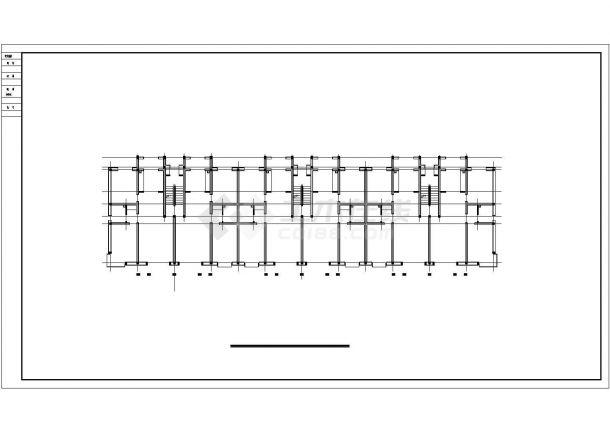 石河子市某干部家属院5层砖混结构住宅楼建筑设计CAD图纸(含阁楼)-图二